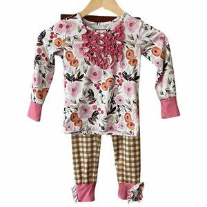 Cheeky Plum boutique Outfit 4T girls Shirt Pants